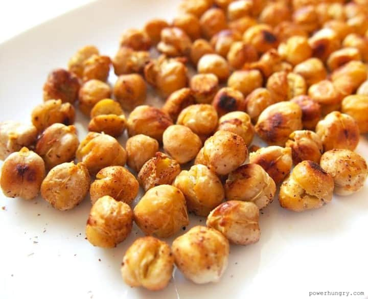 Oil Free Crispy Roasted Chickpeas Easy High Protein Power Hungry