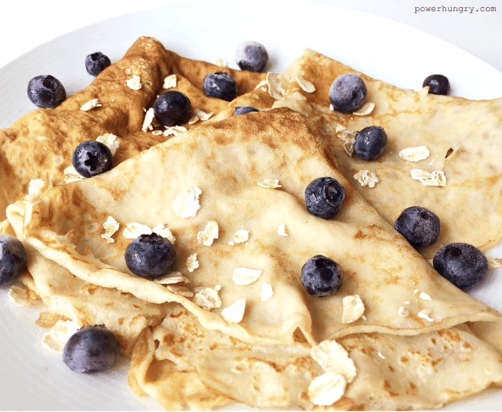 Flourless Blender Oat Crepes Gluten Free Vegan Option