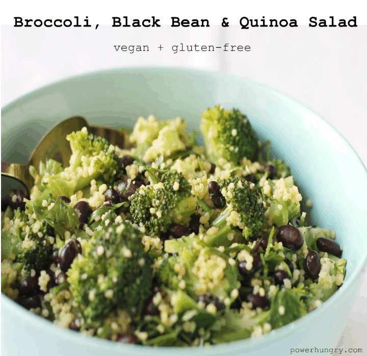 broccoli black bean quinoa salad