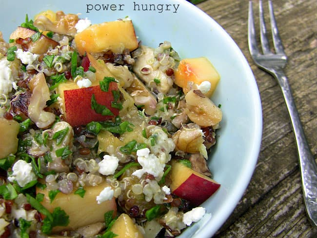 quinoa nectarine salad 005