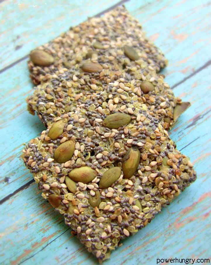 Multiseed Quinoa Crackers {vegan, gluten-free, easy}