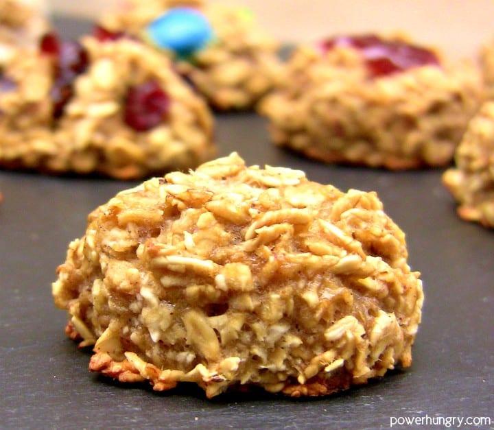 2 Ingredient Banana Oat Cookies Gluten Free Vegan Power Hungry
