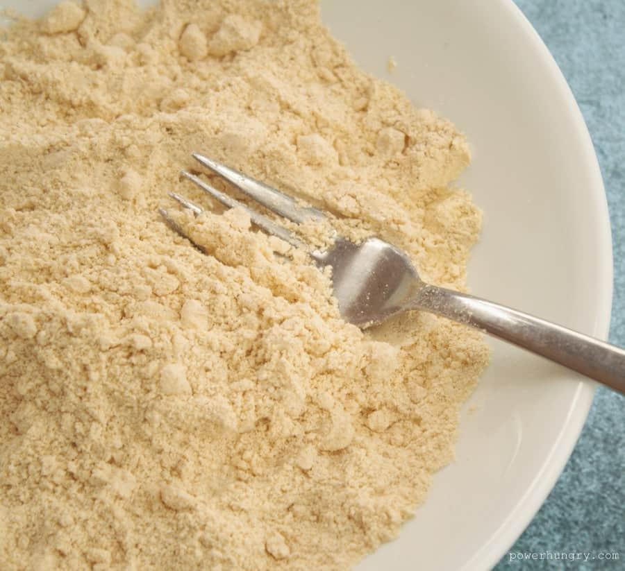 flour with oil
