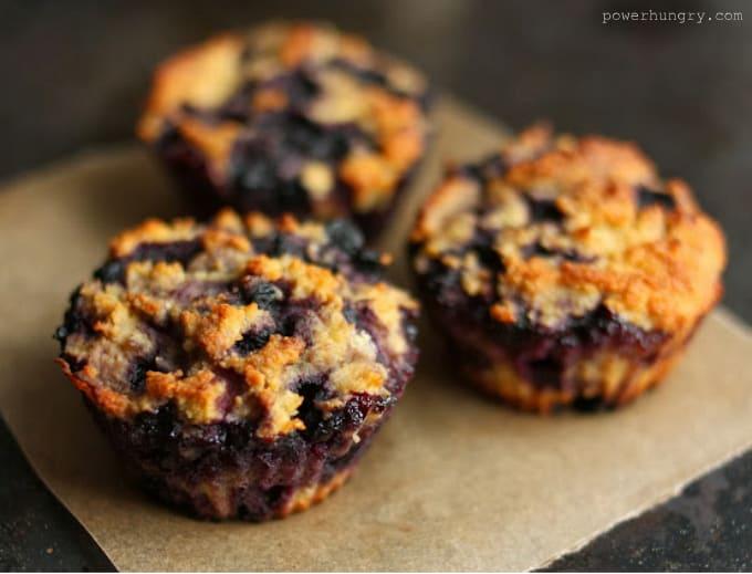 coconut flour blueberry muffins 002