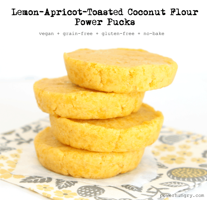 apricot toasted coconut flour pucks 1