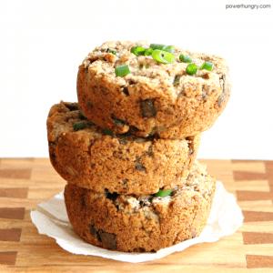 Green Onion-Mushroom Almond Flour Breads {grainfree + vegan}