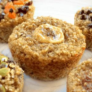 3-Ingredient Banana Quinoa Muffins {vegan, gluten-free}