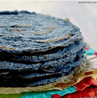 1-Ingredient Black Bean Tortillas {Grain-Free, Oil-Free, Vegan}