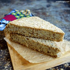 3 Ingredient Oat & Flax Skillet Bread {Vegan, Oil-Free, Gluten-Free}
