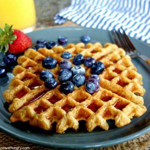 Healthy Oat Waffles {vegan, gluten-free}