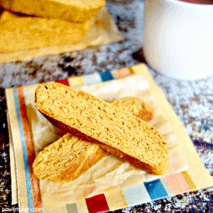 Pumpkin Almond Flour Biscotti {vegan, paleo, keto option)