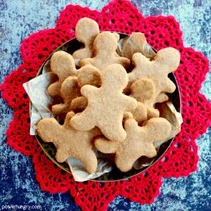 Cassava Flour Gingerbread Cut-Out Cookies {grain-free, nut-free, vegan, Paleo)